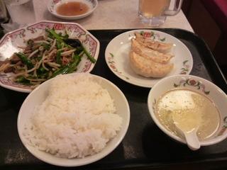 7月11日の夕飯 餃子の王将