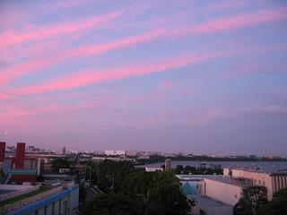 7月12日 夕日(秋の空?)