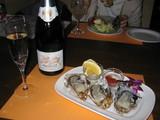 プロセッコ&牡蠣