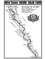 1300mileのコースマップ