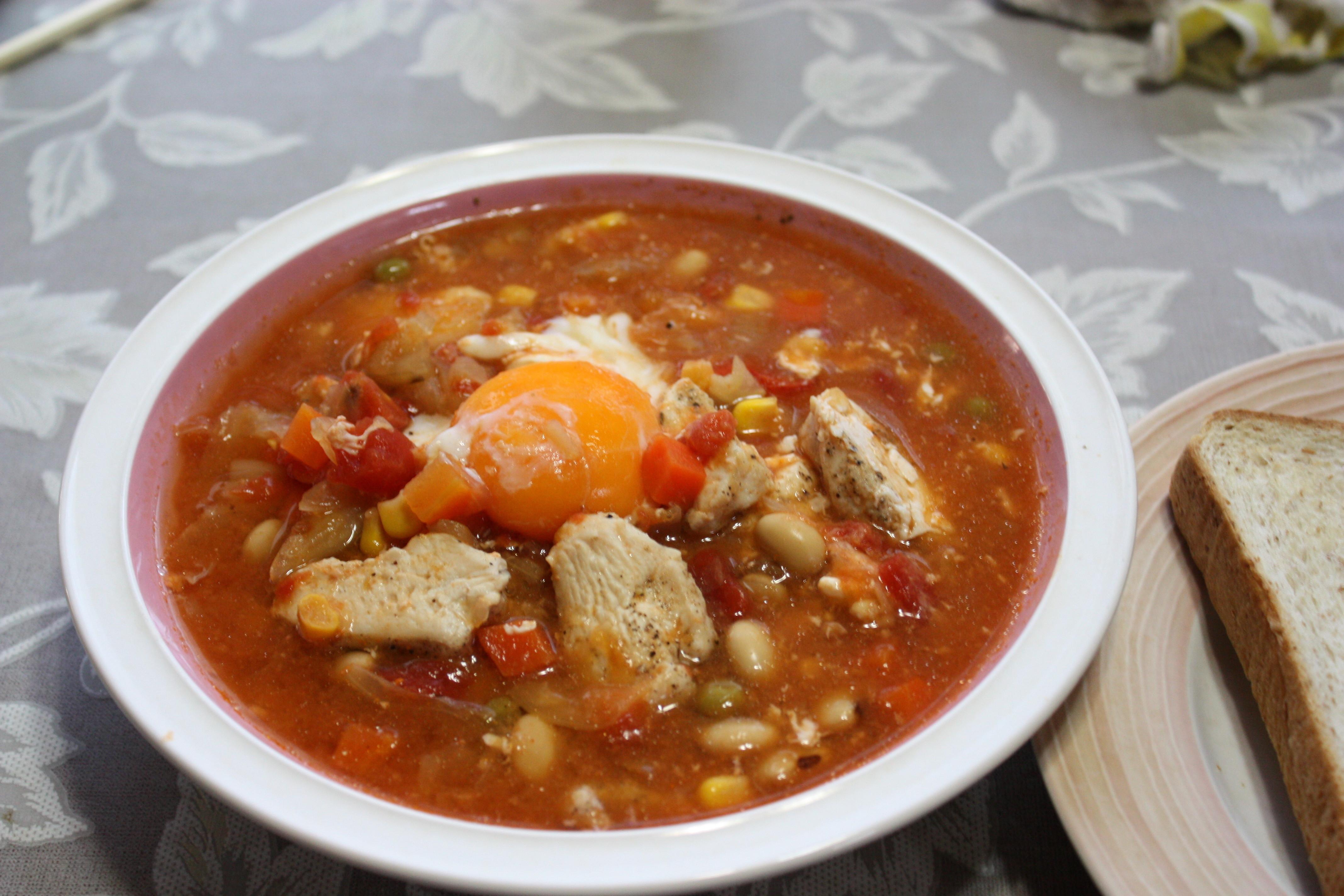 親子豆スープ
