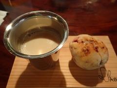 豆乳チャイとマフィン