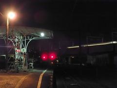 新幹線が通過
