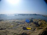 西川名のビーチ