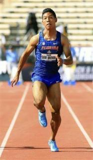 陸上男子100メートル、サニブラウンが9秒97の日本新記録