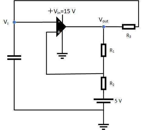 コンデンサ充放電回路