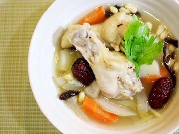 鶏手羽元のスープ
