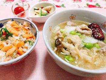 甘酒の滋養スープ