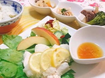 鶏肉レモン酢薬膳