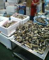 牡蠣売り場