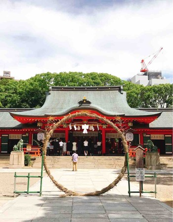 生田神社 茅の輪くぐり