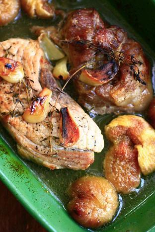 豚肉とイチジクのオーブン焼き