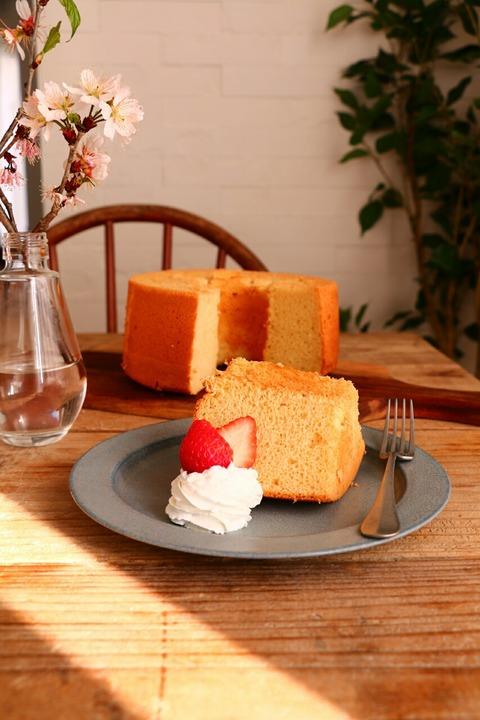 シフォンケーキとシフォンケーキサンド