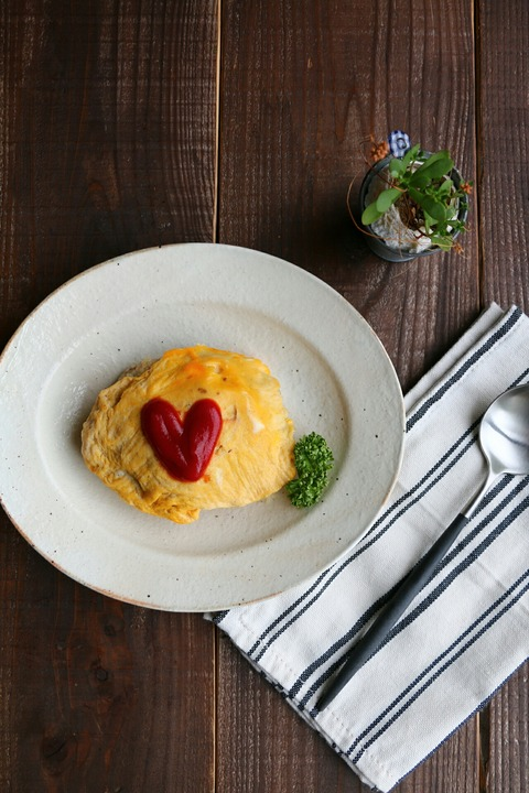 レンジで作るオムライス!レシピと、チーズご飯