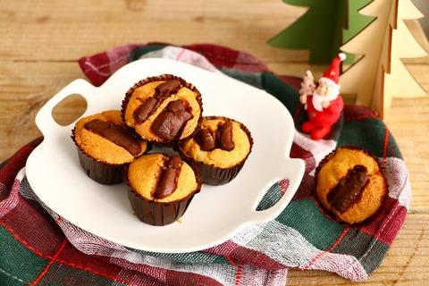 Christmasに★プチチョコマフィン<レシピ>