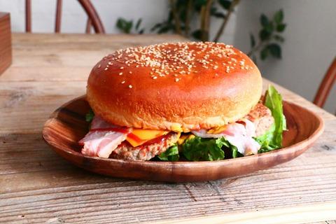 超ビッグサイズのハンバーガー