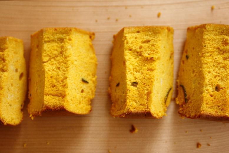 カボチャのシフォンケーキで朝ごはん