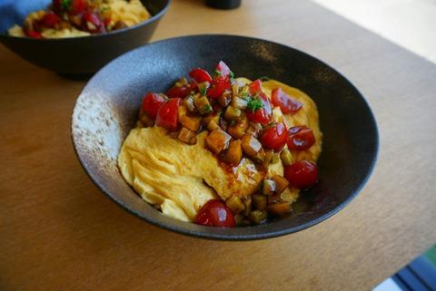 イタリアンオムライス丼とキッシュ風トーストのレシピ