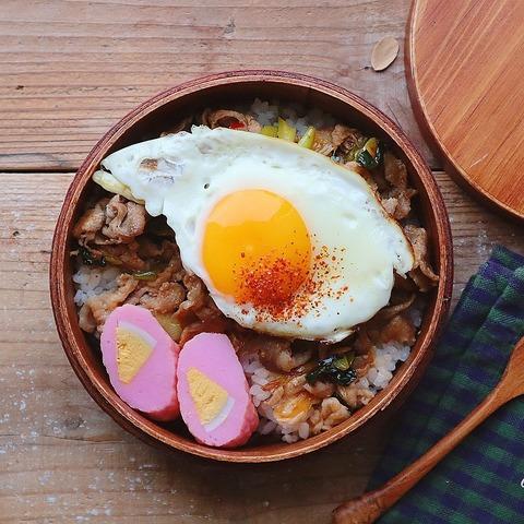 ピリ辛丼のお弁当