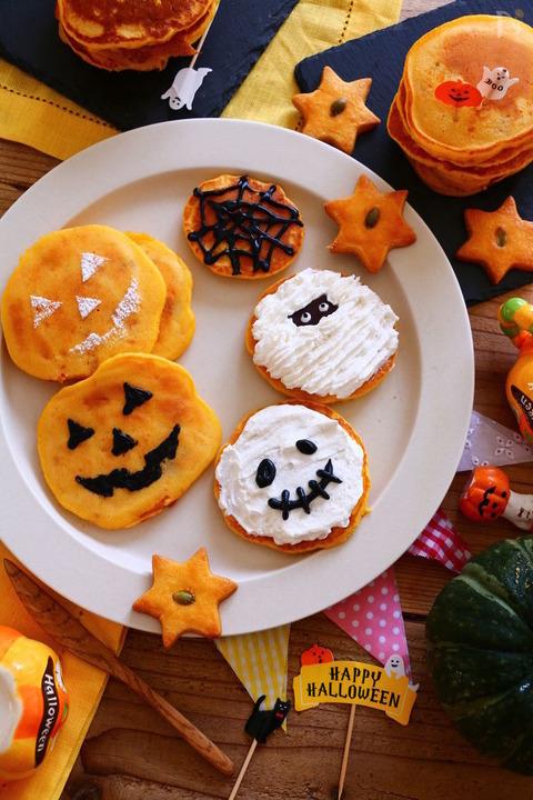 ホットケーキミックスでかわいいハロウィンパンケーキ<レシピ>