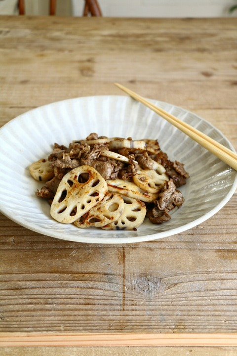 牛肉と蓮根のシンプル炒めと東京ウィーク