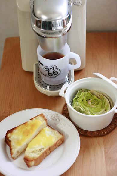 コーヒーのある朝ごはん