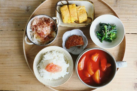 トマトスープのある献立~朝&夕~