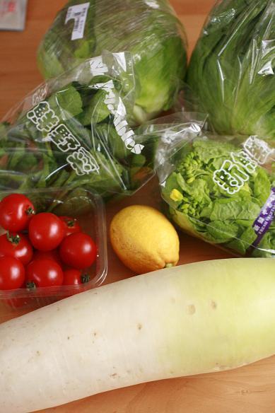 新鮮野菜の晩ごはん