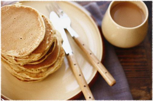 パンケーキの朝ごはん