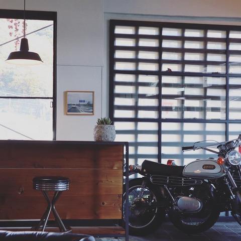ビンテージバイク好きのためのバイクカフェ