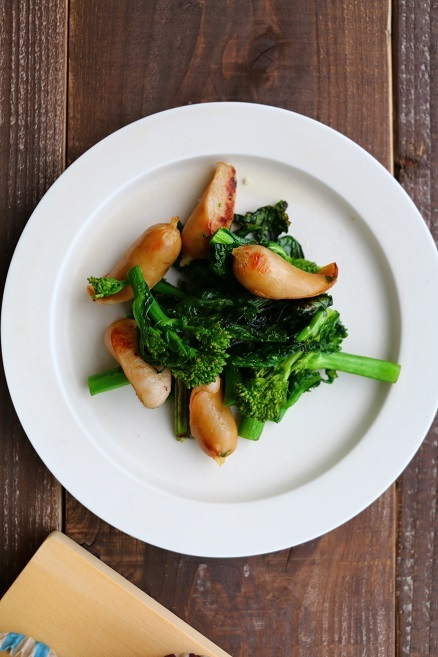 菜の花とウインナーの藻塩炒め【レシピ】と、懐かしいこと