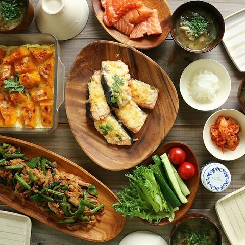 鮭マヨチーズの晩ごはんと簡単すぎるかぼちゃのチーズ焼き【レシピ】