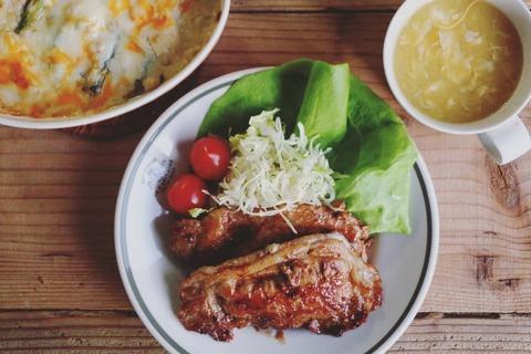 豚とチーズのメープルマスタードソースとレシピ