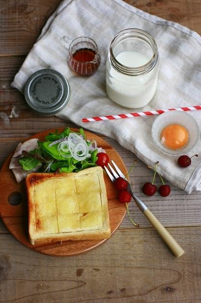 懐かしのミルクセーキで朝ごはん【レシピ】