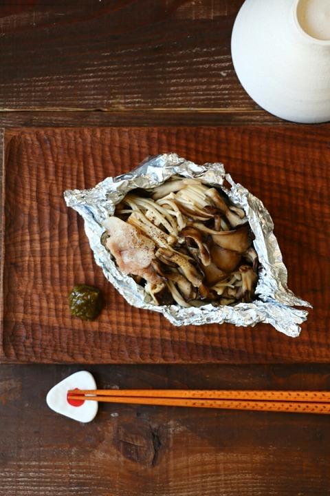 「豚・ナス・きのこ」楽ちんホイル包み焼き(レシピ公開のお知らせ)