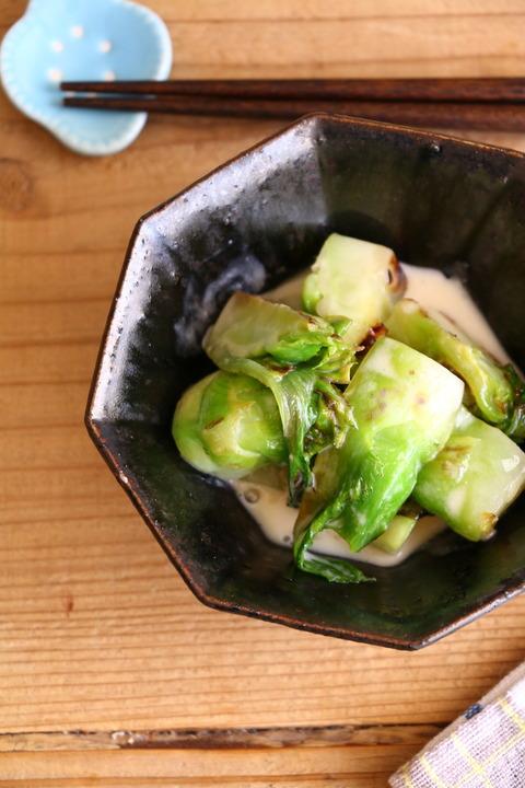 蕾菜のクリームソテーレシピ