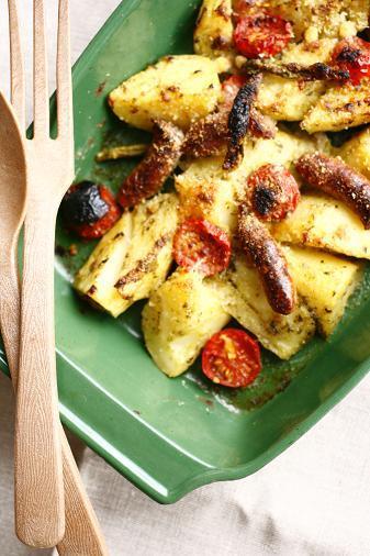 オーブン料理とセミドライトマト