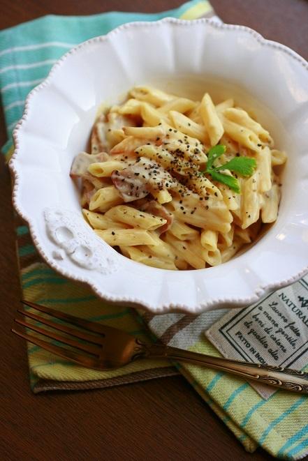 ダイエットに!豆腐でカルボナーラ風パスタ