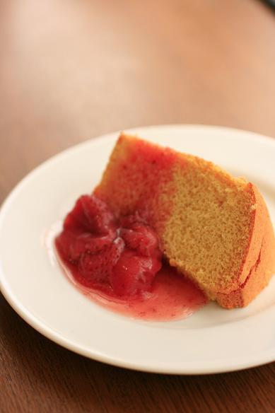 苺ソースのカップシフォン&シフォン