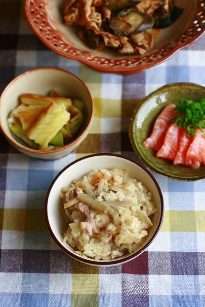 ナスと豚肉の味噌炒め