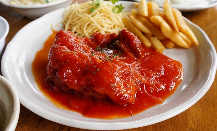 チキンの甘辛トマトソース