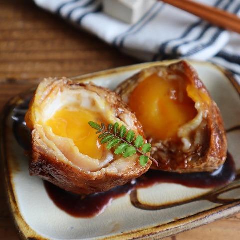 断面萌え!冷凍卵で豚巻き照り焼き
