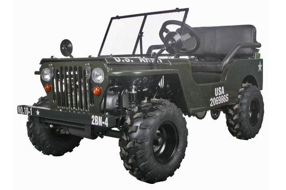 ちっちゃくて約30万円。米軍ジープを125ccのレジャー車両で再現!
