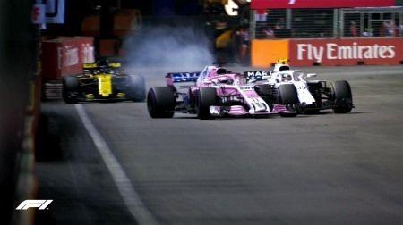 F1シンガポールGP:いろいろヤバイ動きが目立ったペレスにペナルティポイント「3」加算