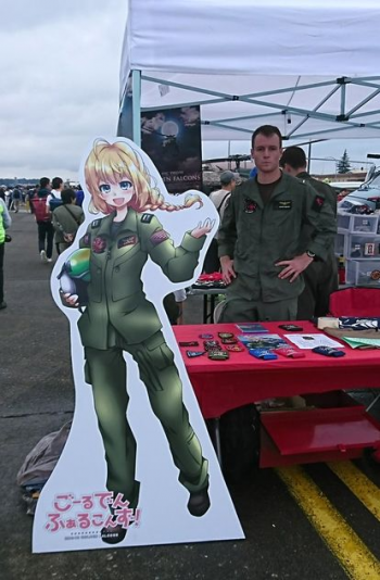 横田基地友好祭2018にて。米空軍も萌えが好きwお前らが笑ったコピーをぺーinばいくちゃんねる板