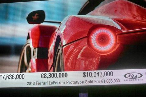 世界で1台のフェラーリ、オークションで10億7700万円の値がつく