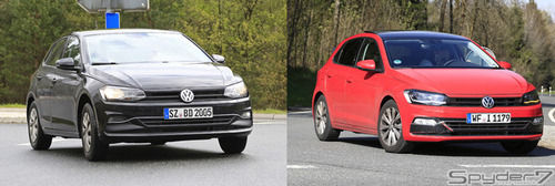 VW 新型「ポロ」のほぼフルヌード! ゴルフ顔があらわに