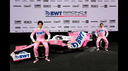 【F1新車発表】レーシングポイントが2020F1マシン「RP20」を公開...BWTがタイトルスポンサーに