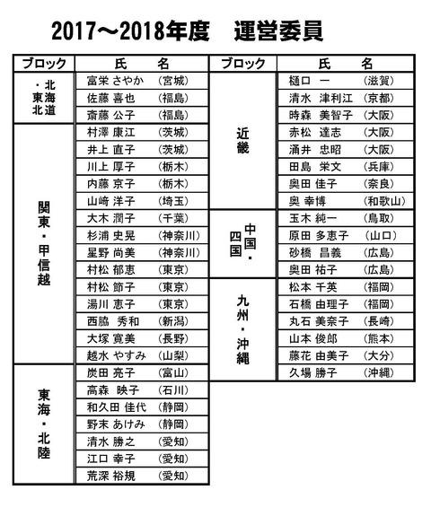 2017運営委員名簿