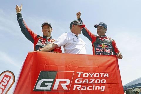 【朗報】トヨタ、ダカール・ラリーで初の総合優